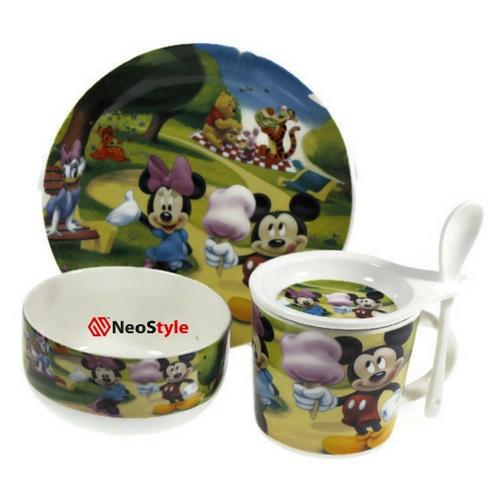 Детски сервиз за хранене Мики Маус на супер цена от Neostyle.bg