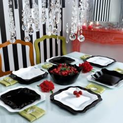 Сервиз за хранене Authentic черно-бял 19 части Luminarc