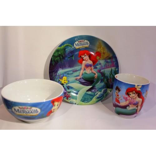 Детски сервиз за хранене от порцелан Малката Русалка