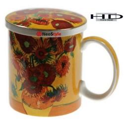 Чаша за чай с капаче Слънчогледите на  Ван Гог