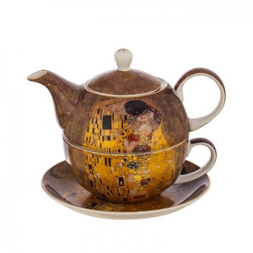 Комплект чаша с чайник Целувката на супер цена от Neostyle.bg