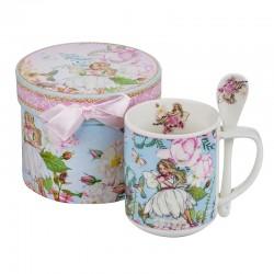 Порцеланова чаша Фея + лъжичка New Wish Studio Porcelain