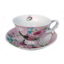 Порцеланов сервиз за чай/кафе от две чаши с чинийки