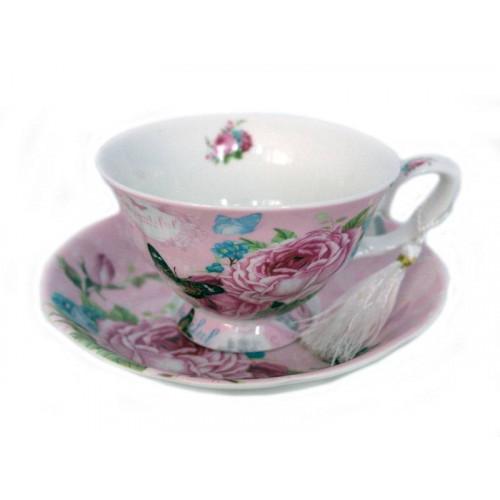 Порцеланов сервиз за чай/кафе от две чаши с чинийки на супер цена от Neostyle.bg