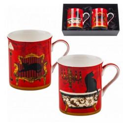 Сервиз за чай от 2 чаши MUG котки Lancaster