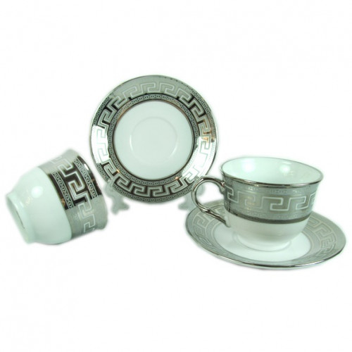 Сервиз за чай Версаче-сребро