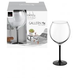 Чаши за вино на черно столче