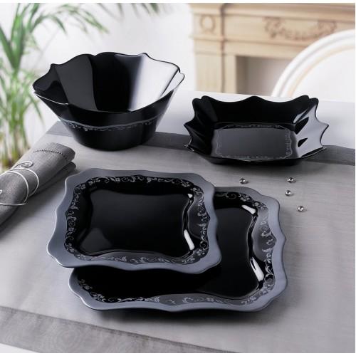 Сервиз за хранене Authentic Silver Black Luminarc 19 части