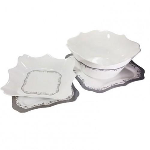 Сервиз за хранене Authentic Silver White Luminarc 19 части