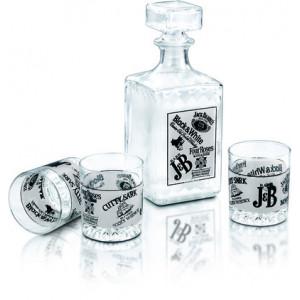 Комплект от 6 чаши за уиски с гарафа