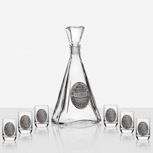 Сет  за водка бутилка+6 чаши ARTINA