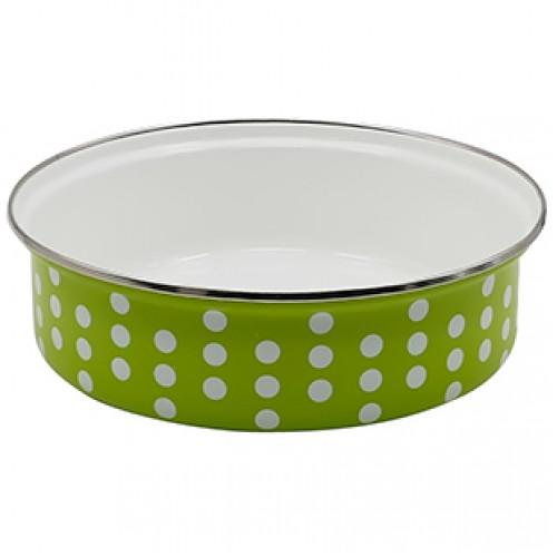 Кръгла тава за печене с емайлно покритие