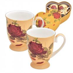 Роза крем к-т 2 чаши ROYAL MUG