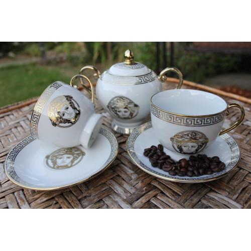 Сервиз за чай Версаче-злато