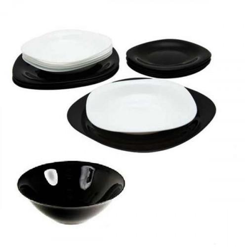 Сервиз за хранене Carine Black & White Luminarc 19 ч.