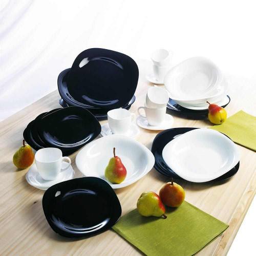 Сервиз за хранене Carine Black & White Luminarc 19 ч. на супер цена от Neostyle.bg