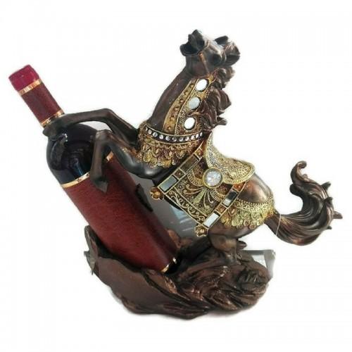 Декоративна фигура кон с поставка за вино