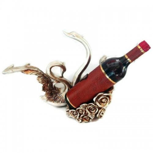 Декоративна фигура лебеди с поставка за бутилка