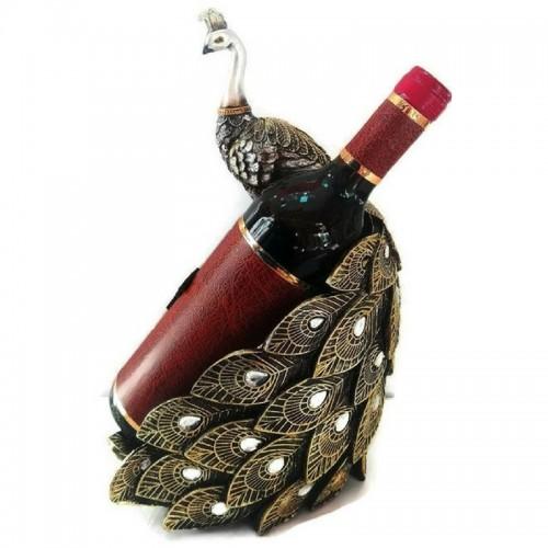 Декоративна фигура Паун с поставка за бутилка на супер цена от Neostyle.bg