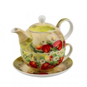 Комплект чаша с чайник Ягоди