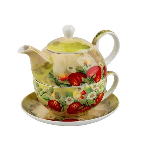 Комплект чаша с чайник Ягоди на супер цена от Neostyle.bg