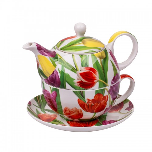 Комплект чаша с чайник Лалета