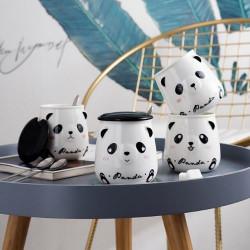 Чаша с капаче и лъжичка - Панда
