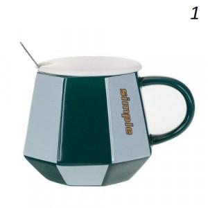 Чаша за чай с капаче и лъжичка