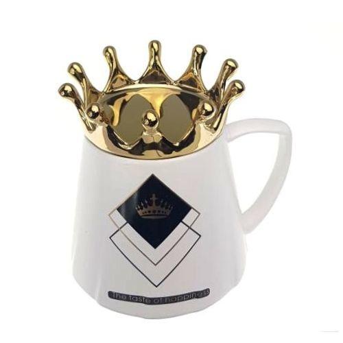 Чаша за чай с капаче корона на супер цена от Neostyle.bg