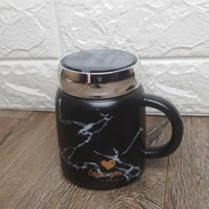 Чаша за чай мрамор с капаче