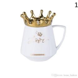 Чаша за чай с капаче корона