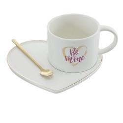 Комплект чаша+чинийка Be Mine