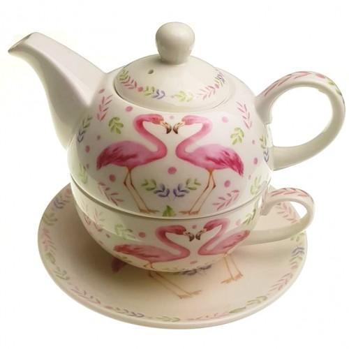 Комплект чаша с чайник Фламинго на супер цена от Neostyle.bg