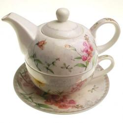 Комплект чаша с чайник Орхидея