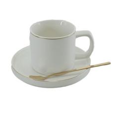 Порцеланов сет чаша+лъжичка с чинийка
