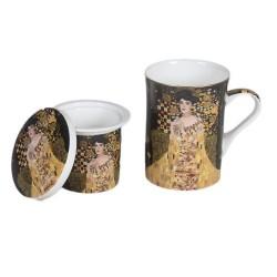 Чаша с капаче и цедка - портрет на Адел Бош