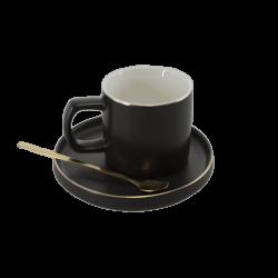 Порцеланова чаша+чинийка с лъжичка