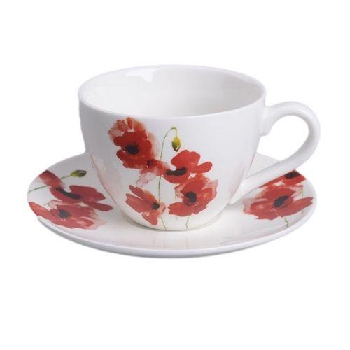 Сервиз за кафе от порцелан  Макове на супер цена от Neostyle.bg