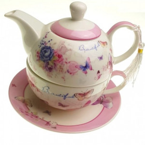 Сет чаша и чайник Пеперуди