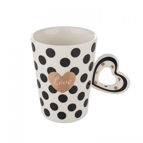 Бяла чаша със сърце Lancaster