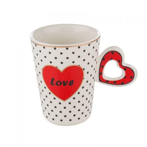 Чаша с червено сърце Lancaster