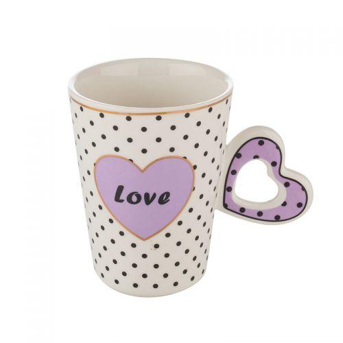Чаша с лилаво сърце Lancaster на супер цена от Neostyle.bg