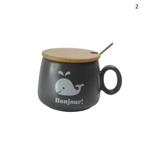 Порцеланов сет чаша+лъжичка с капаче на супер цена от Neostyle.bg