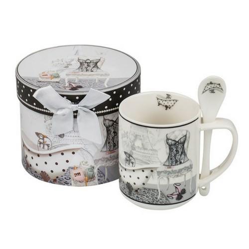 Чаша за кафе с лъжичка New Wish Studio Porcelain