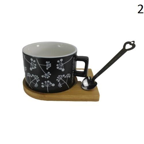 Чаша с дървена чинийка и магнитна лъжичка на супер цена от Neostyle.bg