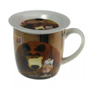 Чаша за мляко Маша и мечока