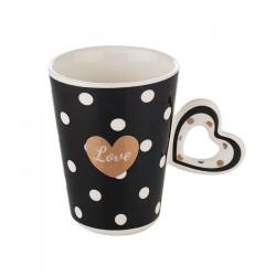Черна чаша със сърце Lancaster