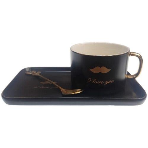 Комплект чаша+чинийка Кiss на супер цена от Neostyle.bg