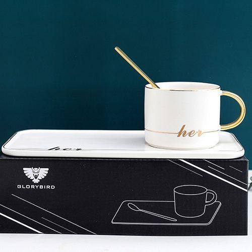 Чаша с чинийка и лъжичка на супер цена от Neostyle.bg