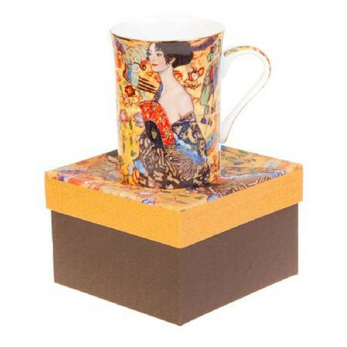 Порцеланоa чаша за чай/кафе Густав Климт-Жена с ветрило